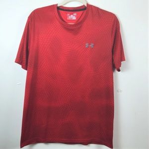 Under Armour Large Red Snake Print Loose Fit Shirt